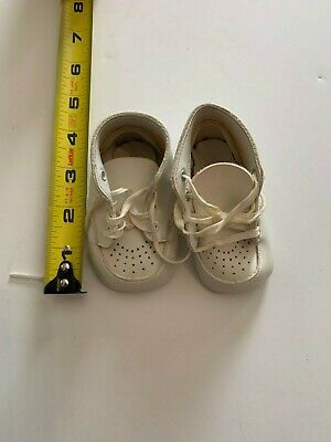 Vintage White Leather Newborn Baby Shoes