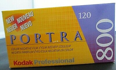 Kodak PORTRA 800 / 120 Color Negative Film 5 Pack Sealed NOS Expired Frozen