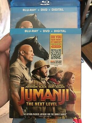jumanji the next level Blu-ray & Dvd With Slip Cover. Free Shipping
