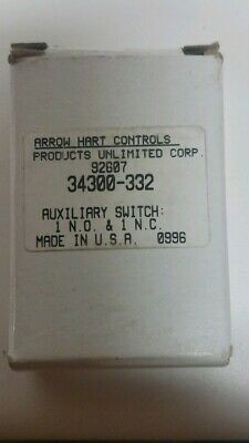 Arrow-Hart Controls 34300-332 Industrial Control Auxiliary Switch-New