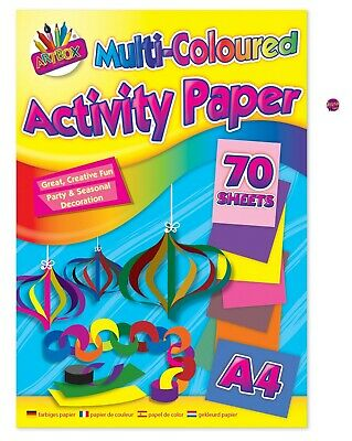 Multi Coloured Pad 70 Sheets,A4 Activity Paper Ideal stocking filler