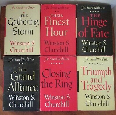 THE SECOND WORLD WAR by WINSTON CHURCHILL-6 VOLUME SET-1ST EDITION  1948 - 1953