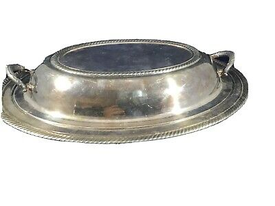 sterling silver covered dish Rope Twist Braid Edge