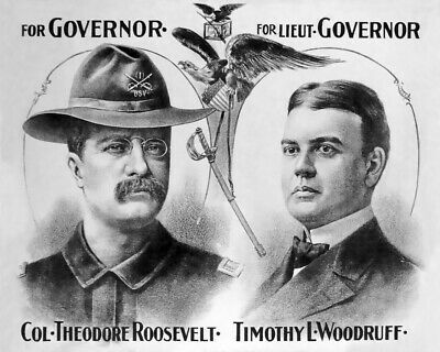 1898 Colonel THEODORE /'TEDDY/' ROOSEVELT Glossy 8x10 Photo /'Rough Rider/' Print