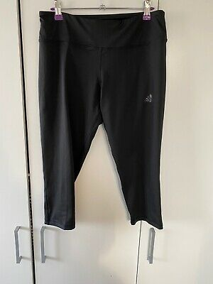 Ladies Adidas Climalite Cropped Gym Leggings, Size Medium Excellent Condition