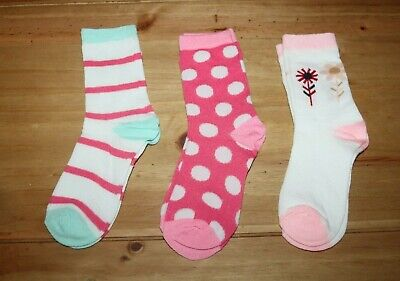 BNWOT Pack of 3 girl's socks size 12.5 - 3.5