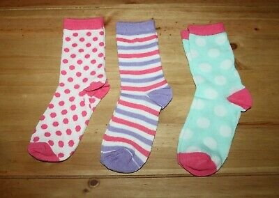 BNWOT Pack of 3 girl's socks size 12.5 - 3.5 (2)