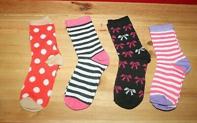 BNWOT Pack of 4 girl's socks size 12.5 - 3.5