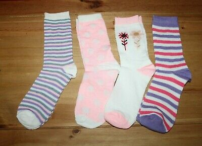 BNWOT Pack of 4 girl's socks size 4-6