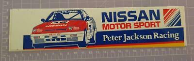 Nissan Motor Sports Pter Jackson Racing Sticker 24cm x 6cm approx As per image