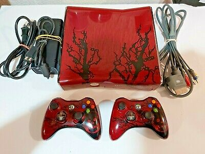 Xbox 360 S Gears of War 3 Limited Edition 320GB Red & Black Console Bundle