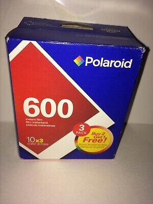 New Sealed Polaroid 3 Pack 600 Instant Film 30 Photos A Pack  Exp 2004