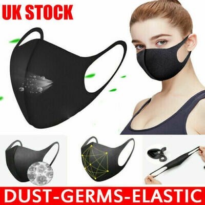 12x Face Cover-Face Mouth Nose Protection Reusable Cycling Filter Dust Cover UK