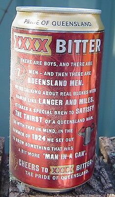 2010 XXXX Bitter Pride of Queensland  Bottom Opened Empty Limited Edition