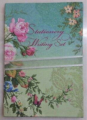 Stationery WRITING PAPER with ENVELOPES 20 sets blossoms embossed Fine Arts