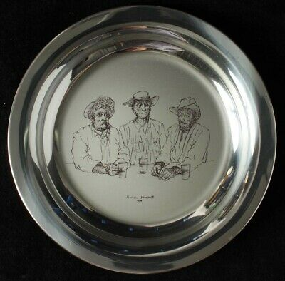 """Australia: 1974 198g Stg Silver Plate """"The Old Timers"""" by Russell Drysdale"""
