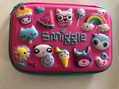 Smiggle Girls Pink Pencil Case - Zip Around Loads Of Room. Collect Or Post
