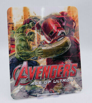 AVENGERS Age of Ultron - Glossy Bluray Steelbook Magnet Cover (NOT LENTICULAR)