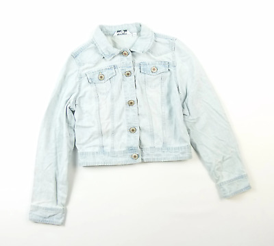 New Look Girls Blue Plain Denim Jacket Age 14-15