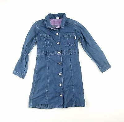 Jasper Conran Girls Blue Plain Denim Jacket Age 8