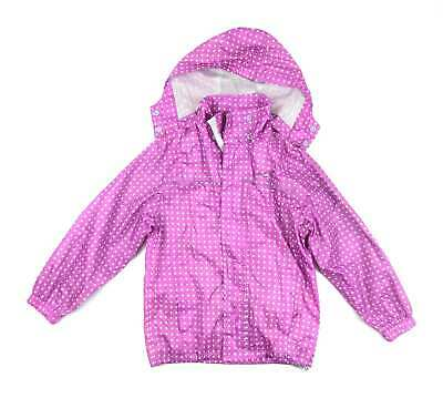 Trespass Girls Pink Spotted Coat Age 9-10