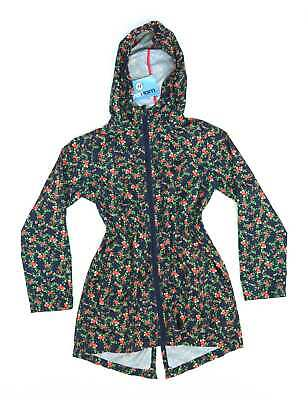 Young Dimension Girls Blue Floral Parka In A Pocket Coat Age 8-9