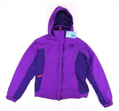 Karrimor Girls Purple Outdoor Walking Hiking Weathertite Waterpoof Windproof Coa