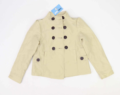 Marks & Spencer Girls Beige Double Breasted Coat Age 9-10