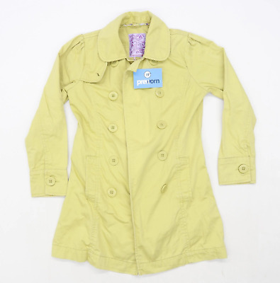 Next Girls Green Coat Age 9-10