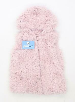 Nutmeg Girls Pink Gilet Coat Age 6-7