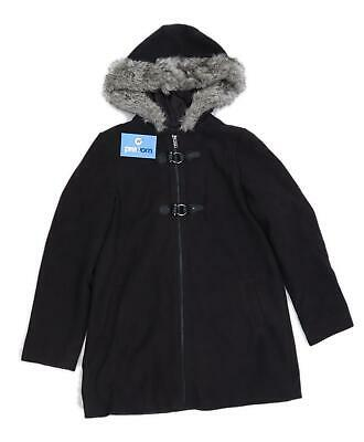 Young Dimension Girls Black Coat Age 12-13