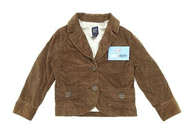 Gap Girls Spotted Brown Pink Spotted Coat Age 4-6