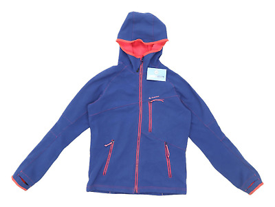 Quechua Girls Blue Lightweight Zip Up Fleece Lined Jacket Age 14