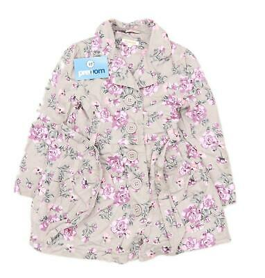 Bluezoo Girls Floral Multi-Coloured Lightweight Coat Age 6