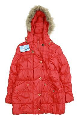 Marks & Spencer Girls Red Midweight Coat Age 11-12