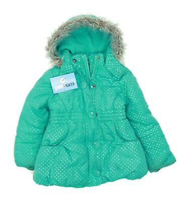 Sweet Millie Girls Spotted Green Midweight Coat Age 4