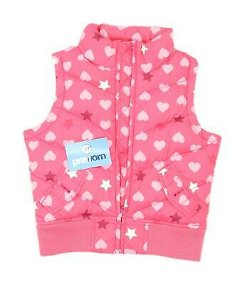 Gap Girls Spotted Pink Midweight Hearts Stars Gilet Age 6-7
