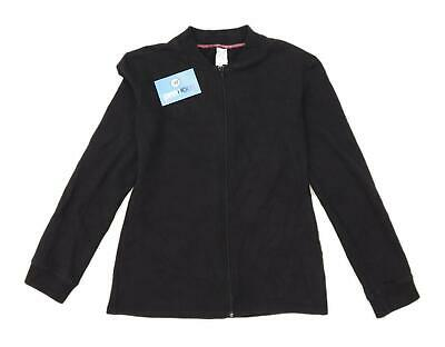Decathlon Girls Black Lightweight Jacket Age 14