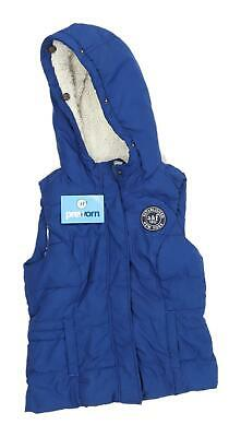Abercrombie & Fitch Girls Blue Hooded Gilet Size L