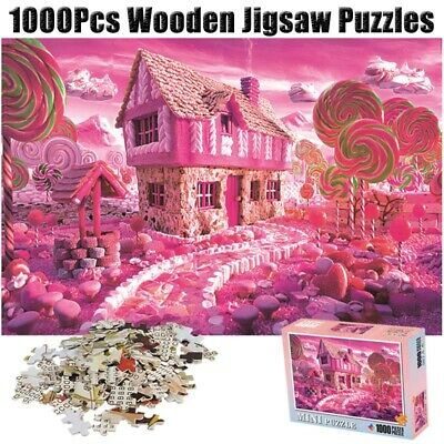 Sweet Candy House Puzzle 1000 Pieces Jigsaw Puzzles Adults Kids Educational Toys