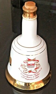 Bell's Scotch Whiskey Porcelain Decanter Commemorative Prince Henry Birth 1984