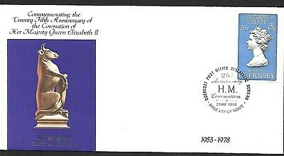 GREAT BRITAIN - GUERNSEY FIRST DAY COVER 25th ANNIV OF QEII