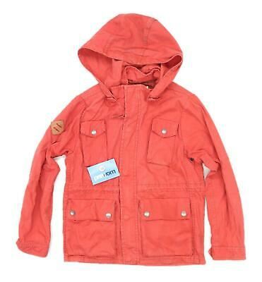 Zara Boys Red Midweight Coat Age 9-10