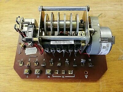 Vintage LANDIS & GYR Motorised Rotary Camswitch Sodeco motor 240vac