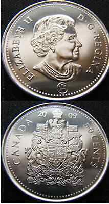 2009 Canadian Uncirculated 50 Cent Piece From Mint Roll