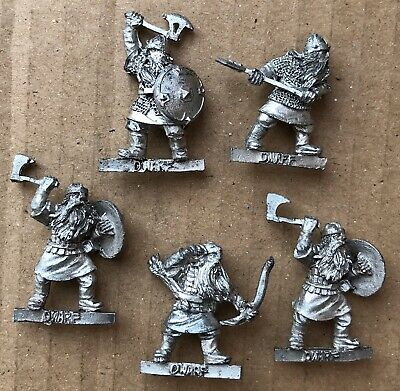 "GW 00s Lord Of The Rings metal Dwarves "" Dwarf Warriors x 5 "" !"