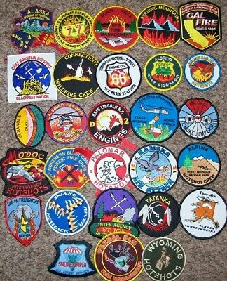 """*CLEARANCE*  WILDLAND - 28 Total Fire Patch Set # 1  """"NO DUPLICATES IN SET"""""""