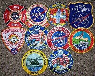 """*CLEARANCE*  N.A.S.A. - 10 Total Fire Patch Set  """"NO DUPLICATES IN SET"""""""