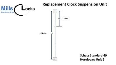 Schatz Standards 49 (Unit 6) Horolovar Anniversary Clock 400 Day Suspension Unit