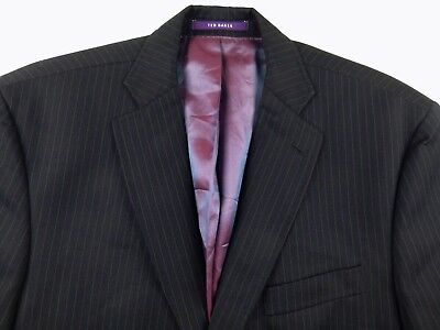 G157 TED BAKER / ENDURANCE pinstripe wool blazer size 40R, as unused condition!